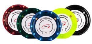 پیجر لرزشی CV150 در رنگ های قرمز، سبز، آبی، زرد و مشکی