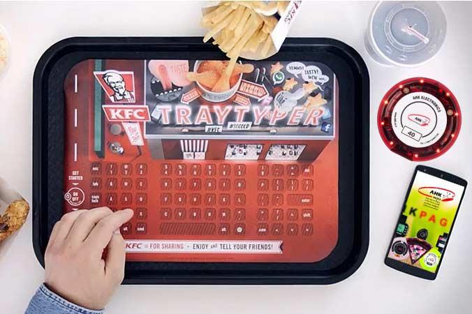 سینی هوشمند در فست فود KFC